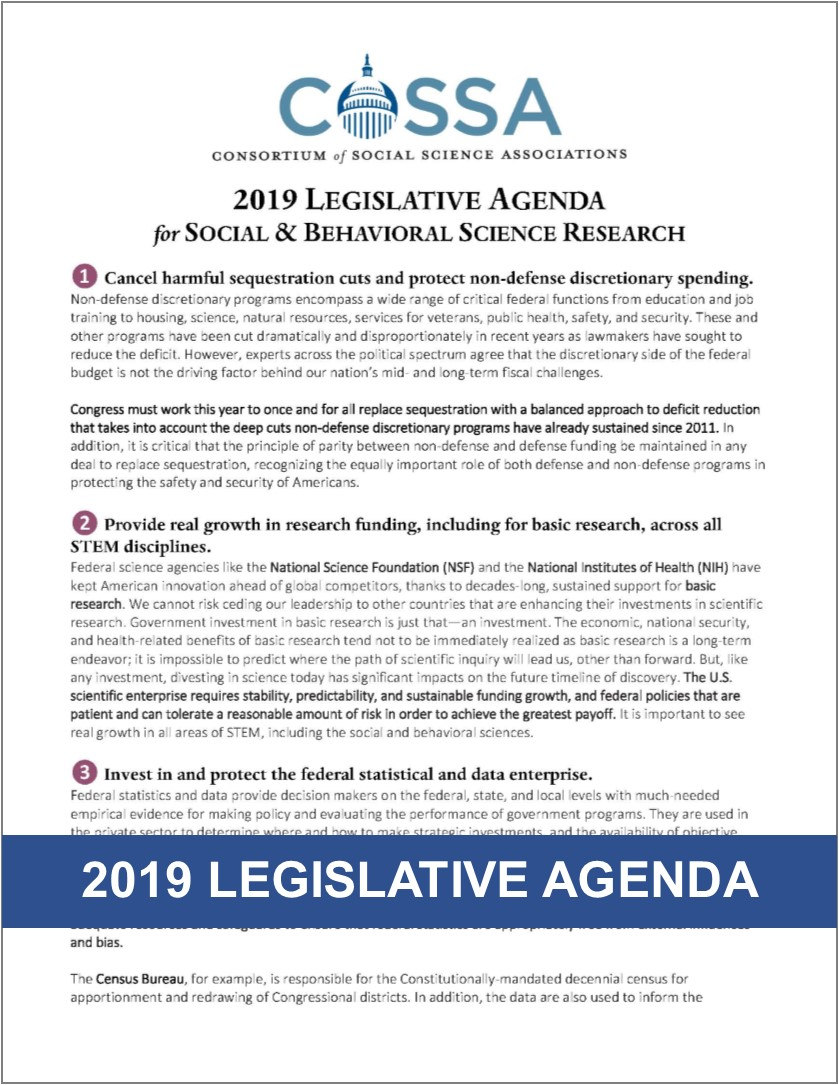 2019 Legislative Agenda