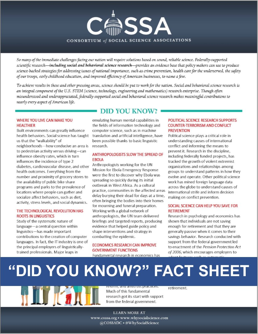 """Did You Know?"" Fact Sheet"