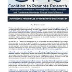 CPR - Advancing Principles of Scientific Stewardship